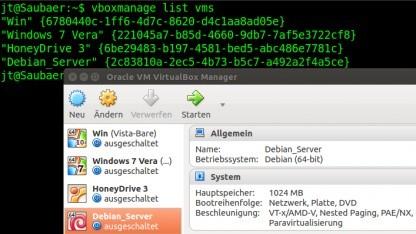 Virtualbox mit und ohne grafische Oberfläche.
