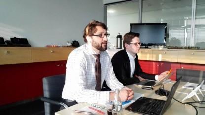 Oliver Tuszik (links), Deutschlandchef von Cisco