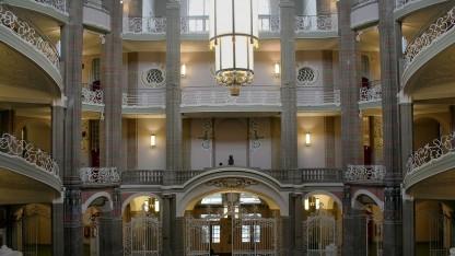 Der Eingangsbereich des Landgerichts Berlin. Hier wird demnächst wohl verhandelt werden.