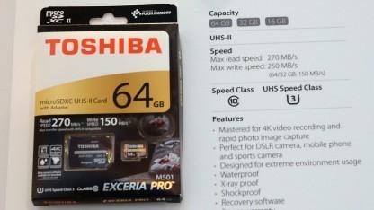 Toshiba Exceria Pro mit UHS-II