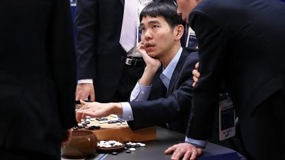 Lee Sedol beim letzten von fünf Spielen gegen Alpha Go