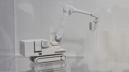 Leider nur als Modell auf der Cebit zu sehen: der Bauroboter In Situ Fabricator