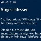 Offizielles Upgrade: Windows 10 Mobile ist da - für manche
