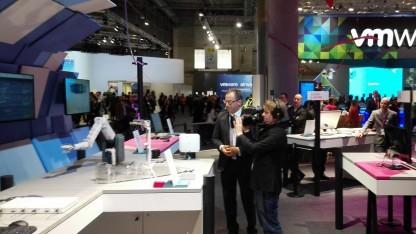 Telekom-Technikchef Bruno Jacobfeuerborn auf dem MWC 2016