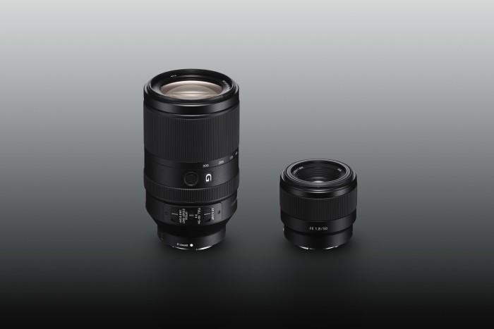 Zwei neue Sony-E-Mount-Objektive.