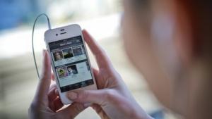 Spotify auf einem iPhone