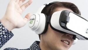 Der Entrim 4D soll virtuelle Bewegungen mit Hilfe galvanisch-vestibulärer Stimulation realistischer erscheinen lassen.