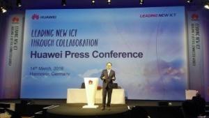 Auf der Huawei-Pressekonferenz in Hannover