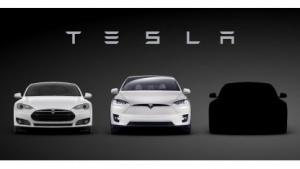Silhouette des Tesla Model 3 (rechts)