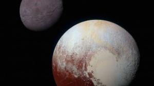 Zwergplanet Pluto: Nord- und Südamerika tauschen die Plätze.