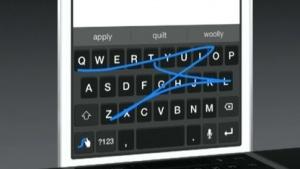 Seit iOS 8 unterstützt Apple Drittanbieter-Tastaturen, hier eine von Swype.