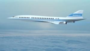Das geplante Flugzeug im Flug