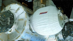 Beam an der ISS (Symbolbild): Das Modul ist nicht von der Größe des Transportmittels abhängig.