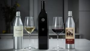 Wein aus Kartuschen: die Kuvée-Flasche mit zwei Alubehältern