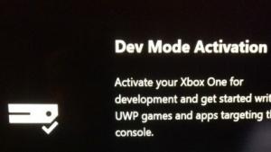 Die App Dev Mode Activiation ist verfügbar.