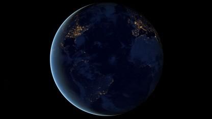 Die Erde aus dem Weltraum: Lichtschwankung ausgleichen