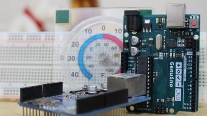 Arduino mit Ethernet-Shield zur Temperaturmessung