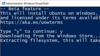 Die Bourne Again Shell kann jetzt in Windows-Insider-Builds installiert werden.