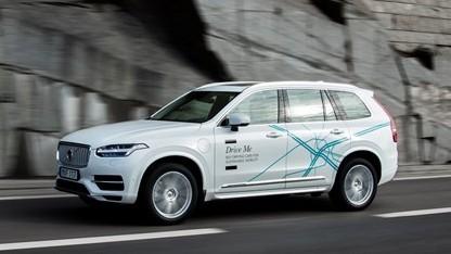 Ein autonomes Testfahrzeug von Volvo: der XC90 Drive Me