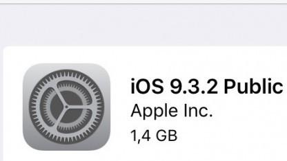 Beta 1 von iOS 9.3.2 ist da.