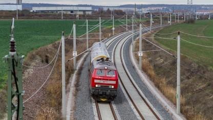 Messzug für GSM-R-Empfang mit Diesellok