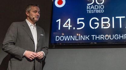 Vodafone-Landeschef Hannes Ametsreiter auf der Cebit 2016