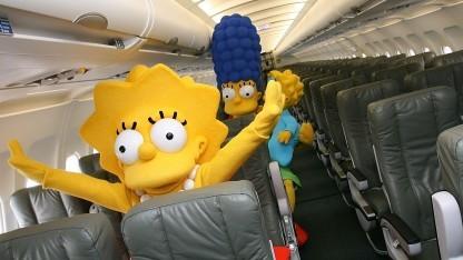 Auch die Simpsons fliegen gern.