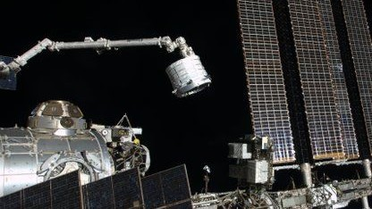 Beam wird an die ISS angedockt: Das Modul wird nicht dauerhaft bewohnt sein.