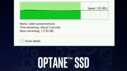 Die Optane-SSD erreicht 2 GByte/s.