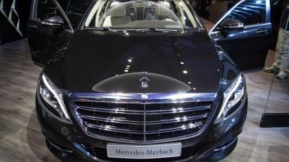 Den Nachfolger gibt's dann vielleicht auch mit Android Auto: ein Mercedes-Maybach S600.
