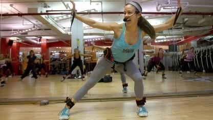 Wearables in einem Fitness-Studio in Manhattan