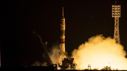 Diesmal soll der Start der Sojus-Rakete glücken - wie auf diesem Foto.
