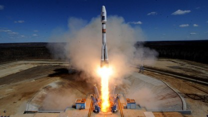 Start einer Sojus-Rakete am 28. April 2016 in Wostotschny: Premiere mit Putin