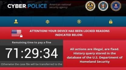 Per Exploit-Kit wird die Malware Cyber Police auf dem Smartphone installiert.