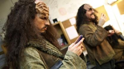 Klingonen gehen mit der Zeit - und nutzen Smartphones. Ihre Sprache wird derzeit vor Gericht verhandelt.
