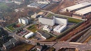Luftaufnahme der Justizvollzugsanstalt Chemnitz
