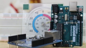 Arduino mit Ethernet-Shield zur Temperaturmessung