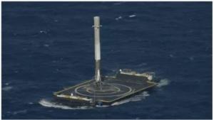 Die Raketenstufe setzte leicht abseits der Mitte auf.
