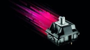 Ein Switch vom Typ MX Speed Silver