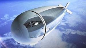 Die Luftschiffe sollen in der Stratosphäre fliegen.