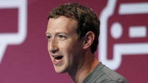 Mark Zuckerberg im Frühjahr 2016 bei einer Rede