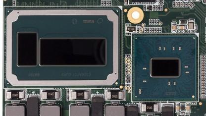 Skylake-R (Mitte) mit Embedded-DRAM (links) und PCH