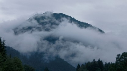 Berg in den Alpen (Symbolbild): wenige Zentimeter Regen im Jahr