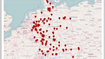 Messungen in Deutschland, Österreich und der Schweiz