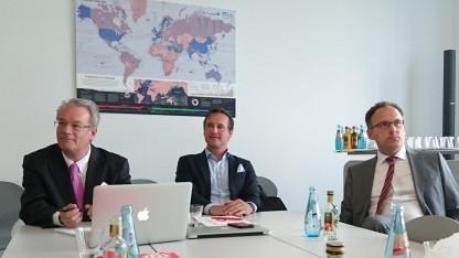 Die Kläger: Alexander Grundner-Culemann, Oliver Süme und Professor Matthias Bäcker