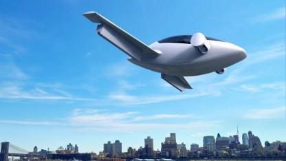 Elektrokleinflugzeug Lilium: Starten und Landen im Garten hinter dem Haus