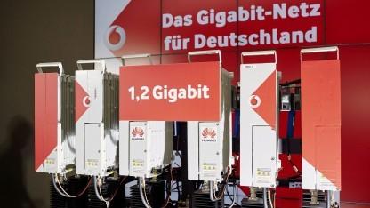 Vodafone-Huawei-Vorführung auf der Cebit
