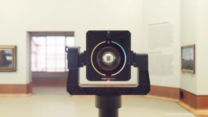 Art Camera: Ein Bild ist einer halben Stunde gescannt.