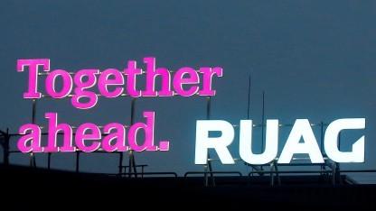 Das Logo auf der Zentrale von Ruag
