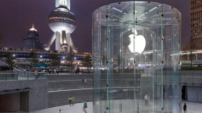 Apple Stores, wie dieser hier in Pudong, Schanghai, wird es in Indien vorerst nicht geben.